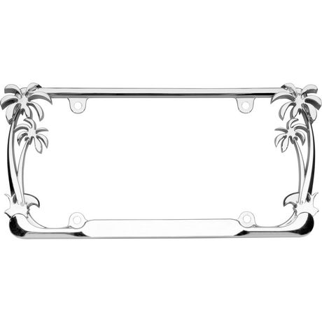Cruiser Accessories Palm Tree, Chrome License Plate Frame - image 1 of 3