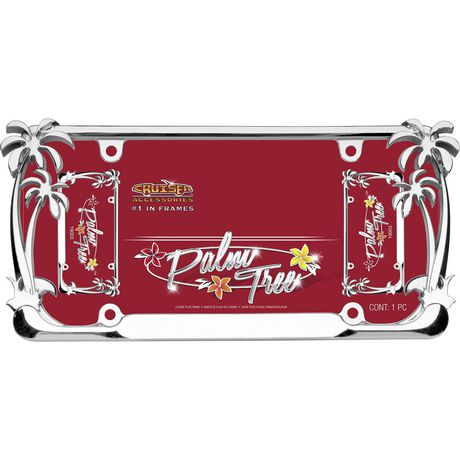 Cruiser Accessories Palm Tree, Chrome License Plate Frame - image 2 of 3