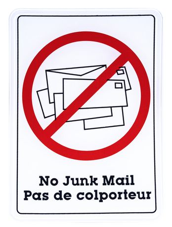 how to get no junk mail sign