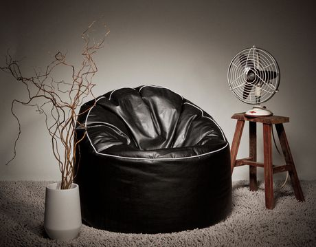 Sitting Point Tube Cozy Xl Black Beanbag Chair Walmart