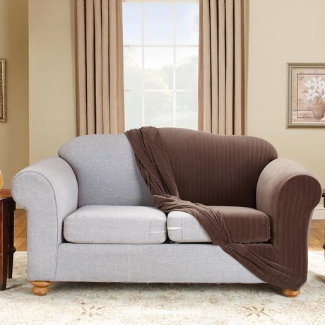 Sure Fit Stretch Pinstripe Loveseat Slipcover - image 5 of 5