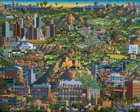 Dowdle Americana Art Valley of The Sun Jigsaw Puzzle - image 3 of 3