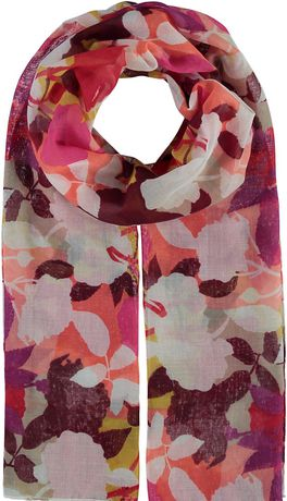Multi-coloured floral scarf made by V Fraas