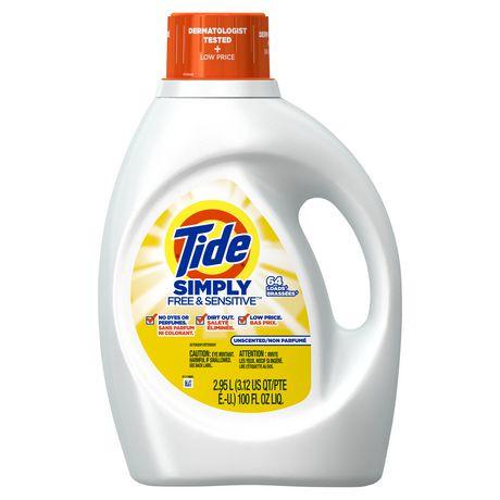 Tide Simply Free & Sensitive Liquid Laundry Detergent ...