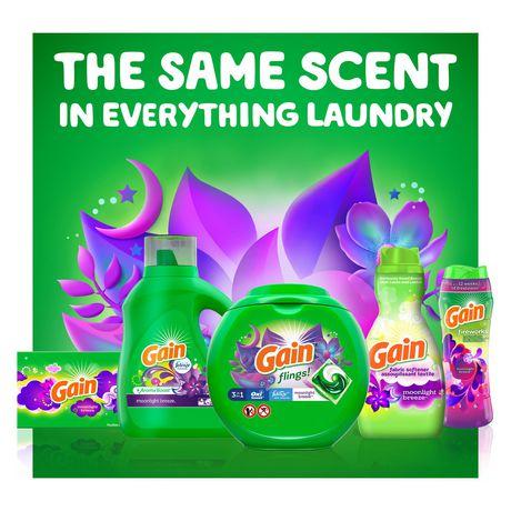 Gain Liquid Laundry Detergent, Moonlight Breeze - image 3 of 8