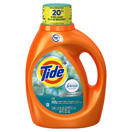 Tide plus Febreze Freshness Botanical Rain HE Turbo Clean Liquid Laundry Detergent - image 1 of 9