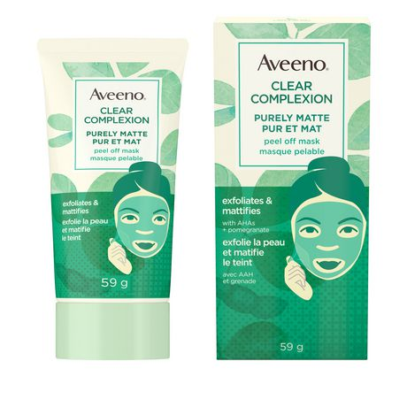 Aveeno Matte Peel Off Face Mask with AHA, 59g