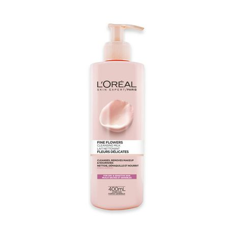 L'Oréal Paris Fine Flowers Cleansing Milk, with Rose & Jasmine Flower Extracts, 400 ml - image 1 of 7
