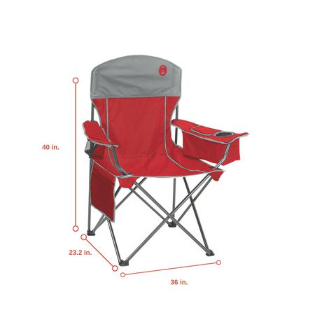 Coleman Cooler Quad Chair Red Grey Walmart Canada