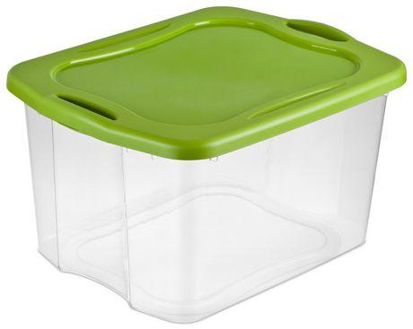 sterilite 66 liter spicy lime easy carry storage box - Sterilite Storage Bins
