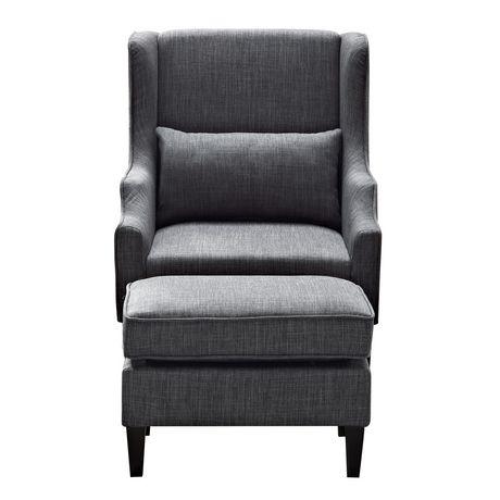 Wyndenhall Leyton Wingback Club Chair Amp Ottoman Walmart
