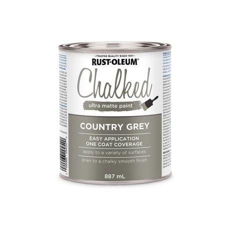 Peinture ultra mate crayeuse rust oleum en gris campagnard - Peinture rust oleum ...