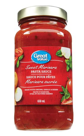 Great Value Sweet Marinara Pasta Sauce - image 1 of 2