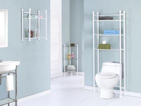 Étagère de salle de bain Monarch Specialties en métal blanc ...