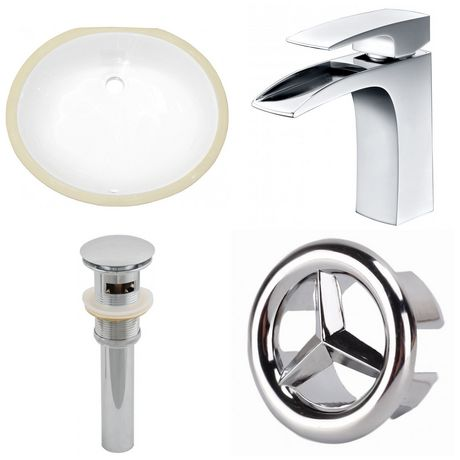 American Imaginations 19.5-in. W Undermount Sink Set White - image 1 of 9