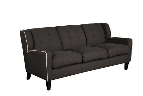Topline Home Furnishings Dark Grey Sofa - image 1 of 3