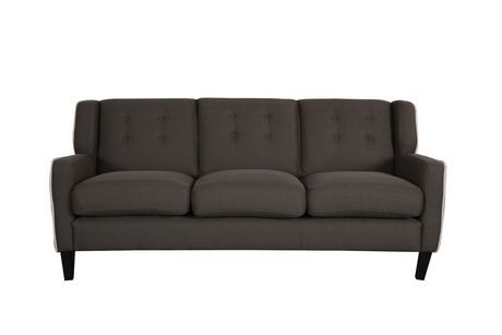 Topline Home Furnishings Dark Grey Sofa - image 2 of 3