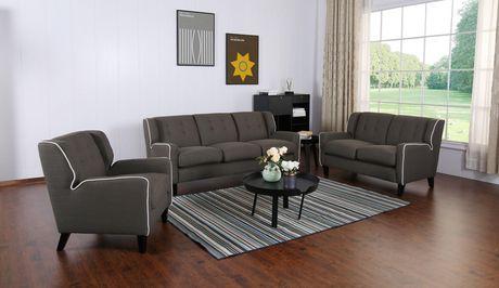 Topline Home Furnishings Dark Grey Sofa - image 3 of 3