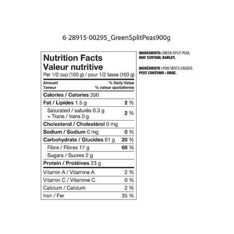 Great Value Green Split Peas - image 2 of 3