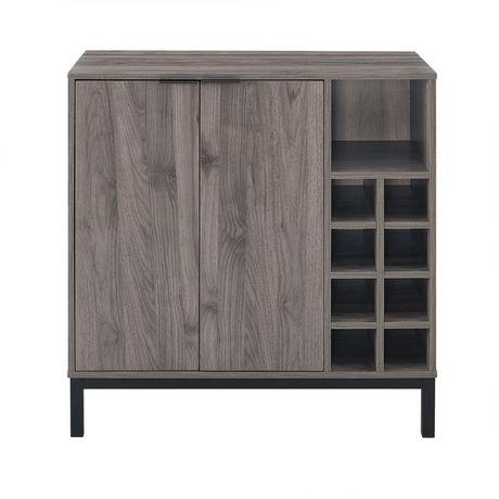 Mid-Century Modern Buffet Bar Cabinet with Storage - Slate ...