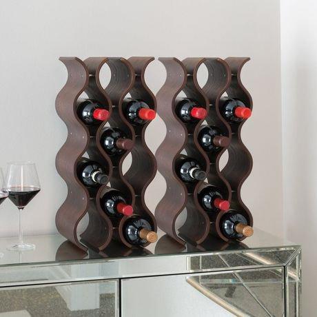 Seville Classics 12 Bottle Wavy Wine Rack Walmart Canada