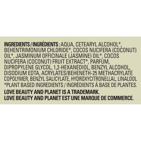 Love Beauty And Planet Coconut Milk with Jasmine Divine Definition Conditioner 400 ML - image 9 of 9