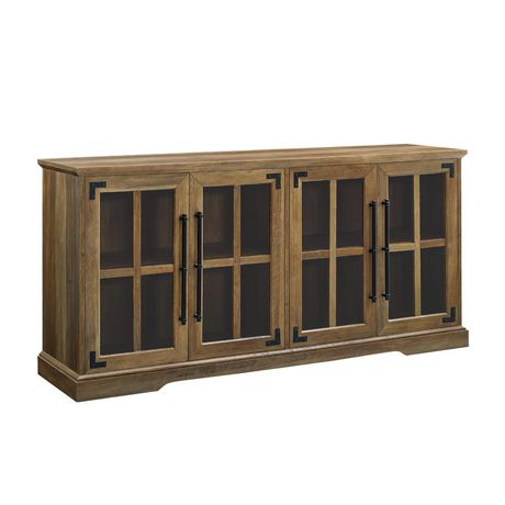 "Modern Farmhouse 4-Door TV Console for TV's up to 64"" - Reclaimed Barnwood - image 3 of 6"