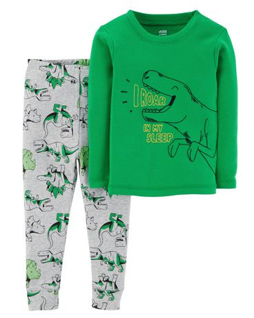 pyjama 2 pi ces pour b b coton garcon child of mine made by carter s dino walmart canada. Black Bedroom Furniture Sets. Home Design Ideas