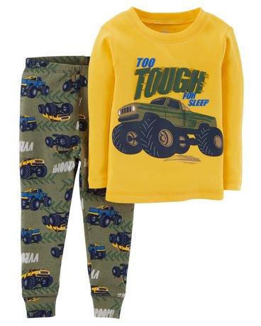 pyjama 2 pi ces pour b b coton garcon child of mine made by carter s un camion. Black Bedroom Furniture Sets. Home Design Ideas