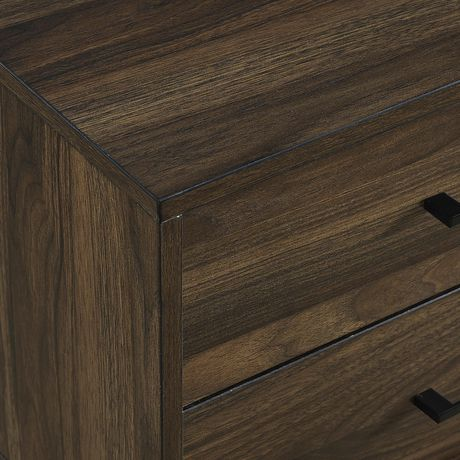 Modern 2 Drawer Nightstand and Side Table with Storage - Dark Walnut - image 5 of 7