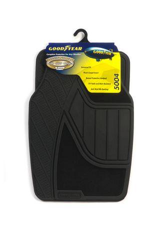 Premium Goodyear Rubber And Carpet Mat Set Black