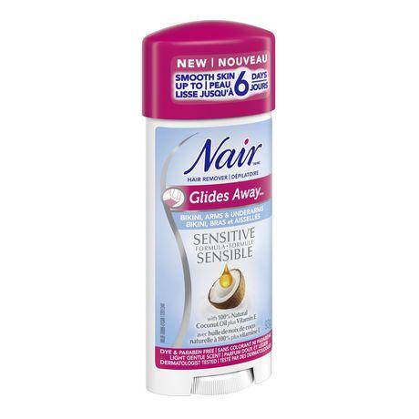 Nair Dépilatoire Glides Away formule sensible avec  huile de noix de coco plus vitamine E - image 3 de 4