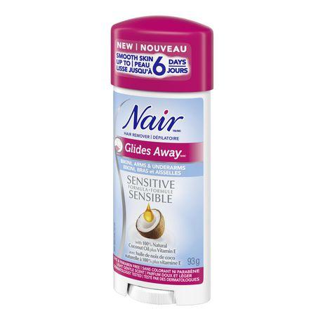 Nair Dépilatoire Glides Away formule sensible avec  huile de noix de coco plus vitamine E - image 2 de 4