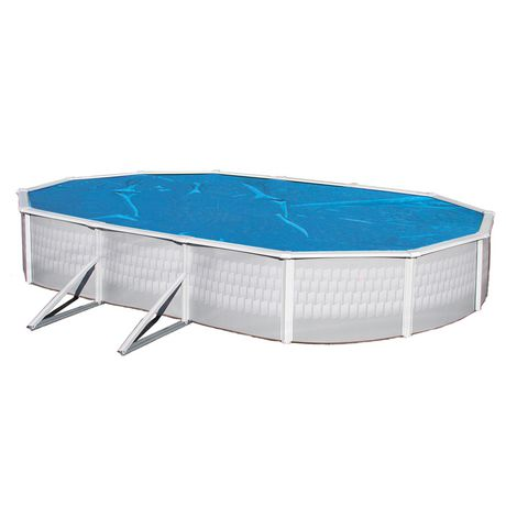 Blue wave oval 8 mil solar blanket for above ground pools - Above ground swimming pools walmart ...