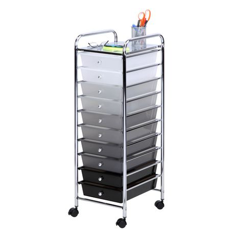 Honey Can Do Gray Shades 10 Drawer Cart Walmart Ca