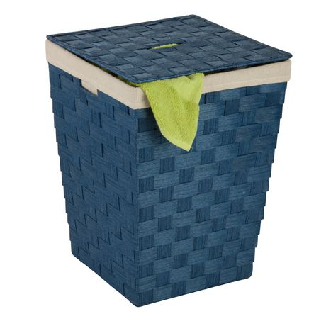 Honey Can Do Blue Woven Hamper With Lid Walmart Canada