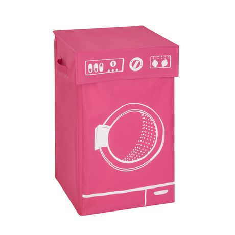 Honey-Can-Do Pink Graphic Hamper - image 1 of 1