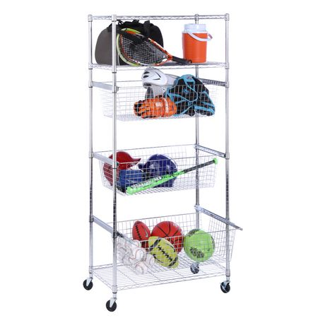 Honey Can Do Rolling Sports Storage Unit With Roll Out Baskets | Walmart  Canada