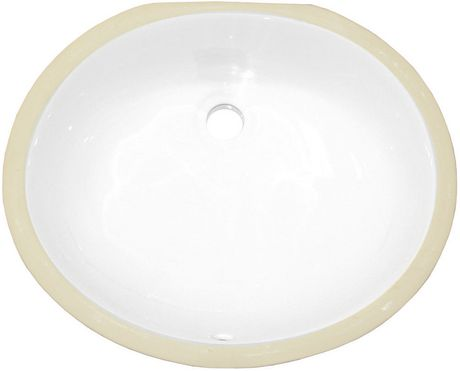 American Imaginations 19.5-in. W Undermount Sink Set White - image 6 of 9
