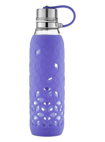 Contigo Purity 20-Oz. Glass Water Bottle with Petal Sleeve, Grapevine - image 2 of 4