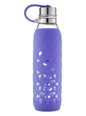 Contigo Purity 20-Oz. Glass Water Bottle with Petal Sleeve, Grapevine - image 4 of 4