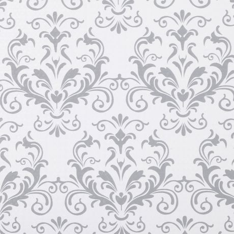 Duck Brand Smooth Top™ Easy Liner® - Grey Damask, 20 in. x ...