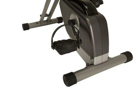 Vélo pliage couché compact EXERPEUTIC 400XL avec capteurs de pouls - image 7 de 9