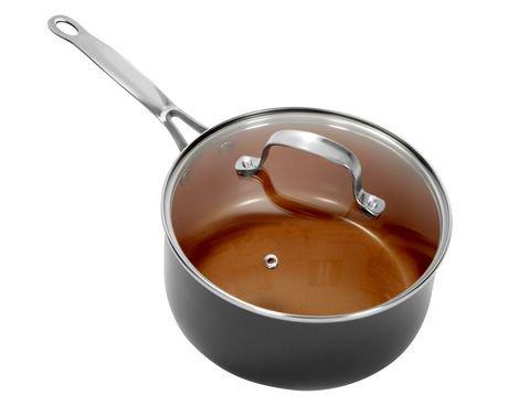 casserole bouillon avec couvercle de gotham steel de 5 ptes capacit de 4 7 l walmart canada. Black Bedroom Furniture Sets. Home Design Ideas