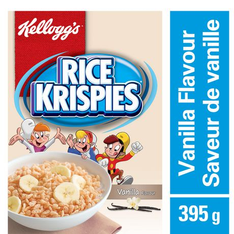 Kelloggs rice krispies cereal vanilla flavour 395g walmart canada ccuart