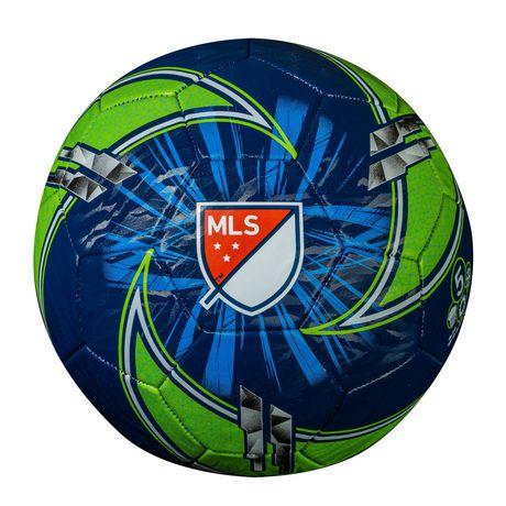 Ballon de soccer bleu et lime de la MLS par Franklin Sports - image 2 de 2