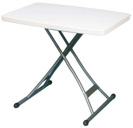 Adjustable personal table 20 x30 walmart canada for Canadian tire table pliante