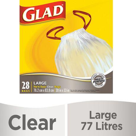 Sacs transparents Grands à nœud éclair® de Glad® pour la récupération a228be16854