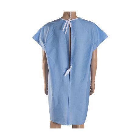 Robe de convalescence DMI avec attaches arrière en ruban - image 3 de 4
