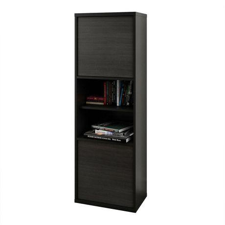Nexera Sereni-T 2-Door Bookcase, Black And Ebony - image 1 of 5